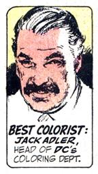 Jack Adler , drawn by  Neal Adams .