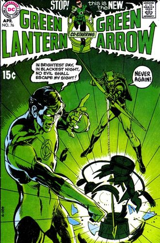 Green Lantern (1960) #76, cover by Neal Adams and Jack Adler.