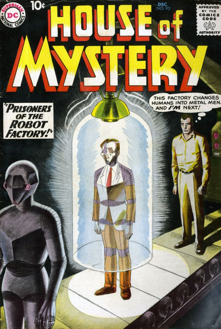 House of Mystery (1951) #93, cover by Nick Cardy and Jack Adler.