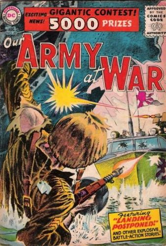 Our Army at War (1952) #49, cover by Joe Kubert and Jack Adler.