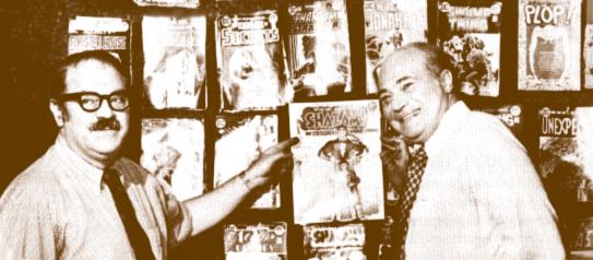 Jack Adler with Carmine Infantino.