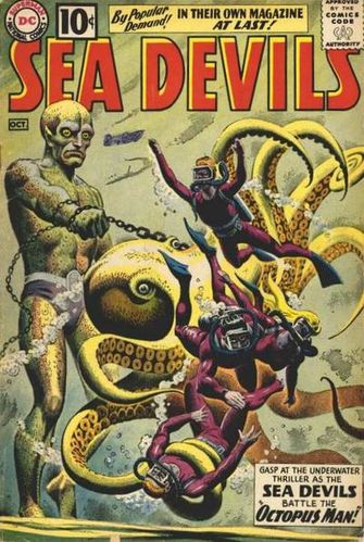 Sea Devils (1961) #1, cover by Russ Heath and Jack Adler.
