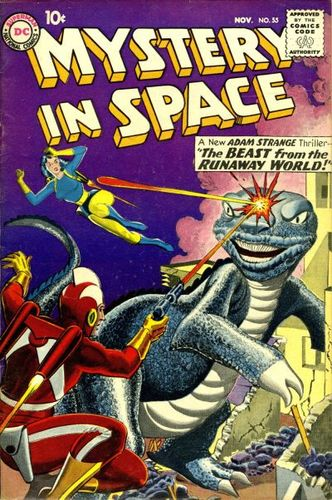 Mystery in Space (1951) #55, cover by Gil Kane and Jack Adler.