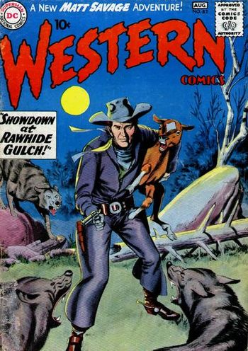 Western Comics (1948) #82, cover by Gil Kane and Jack Adler.