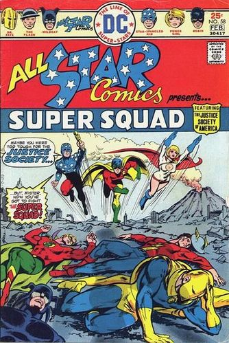 All-Star Comics (1940) #58, cover by Mike Grell.