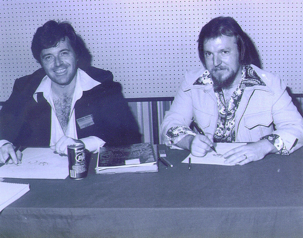 Neal Adams & Mike Grell in 1977.