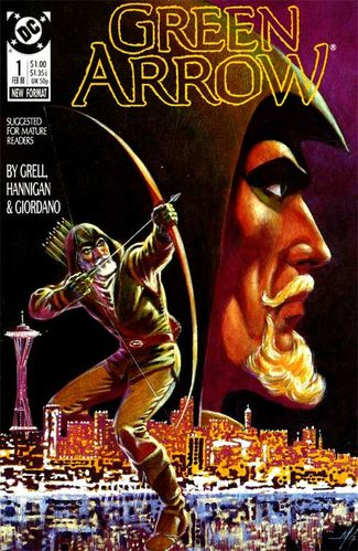 Green Arrow (1988) #1, cover by Mike Grell.
