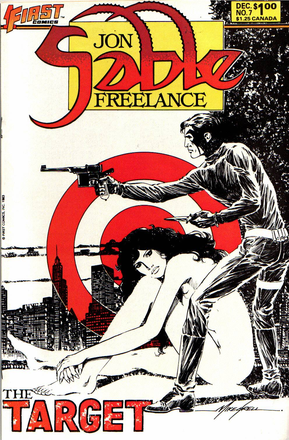Jon Sable_ Freelance (1983) #7, cover by Mike Grell.