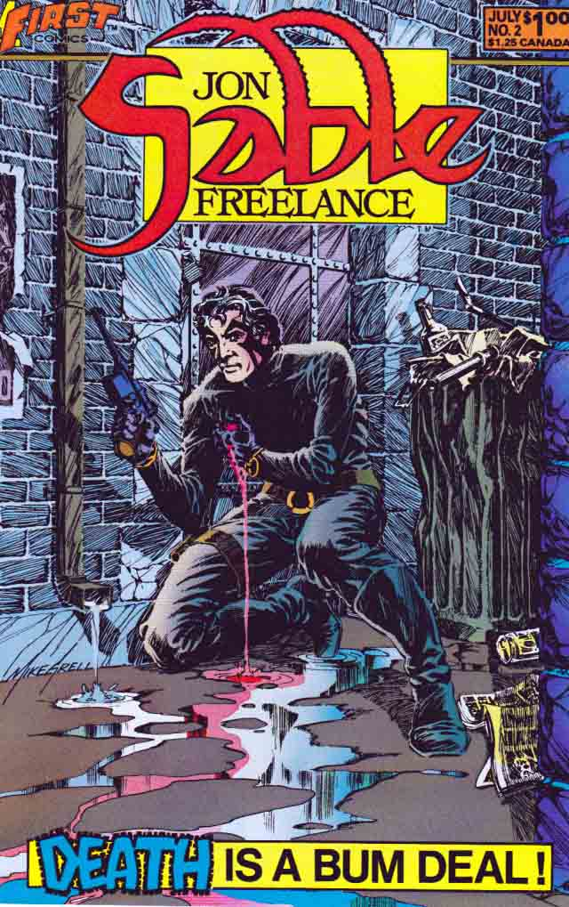 Jon Sable:Freelance (1983) #2, cover by Mike Grell.