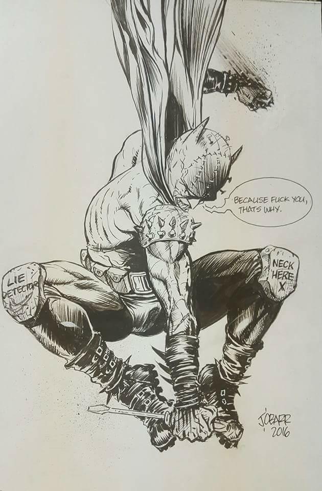 A 2016  Batman  commission by  James O'Barr .