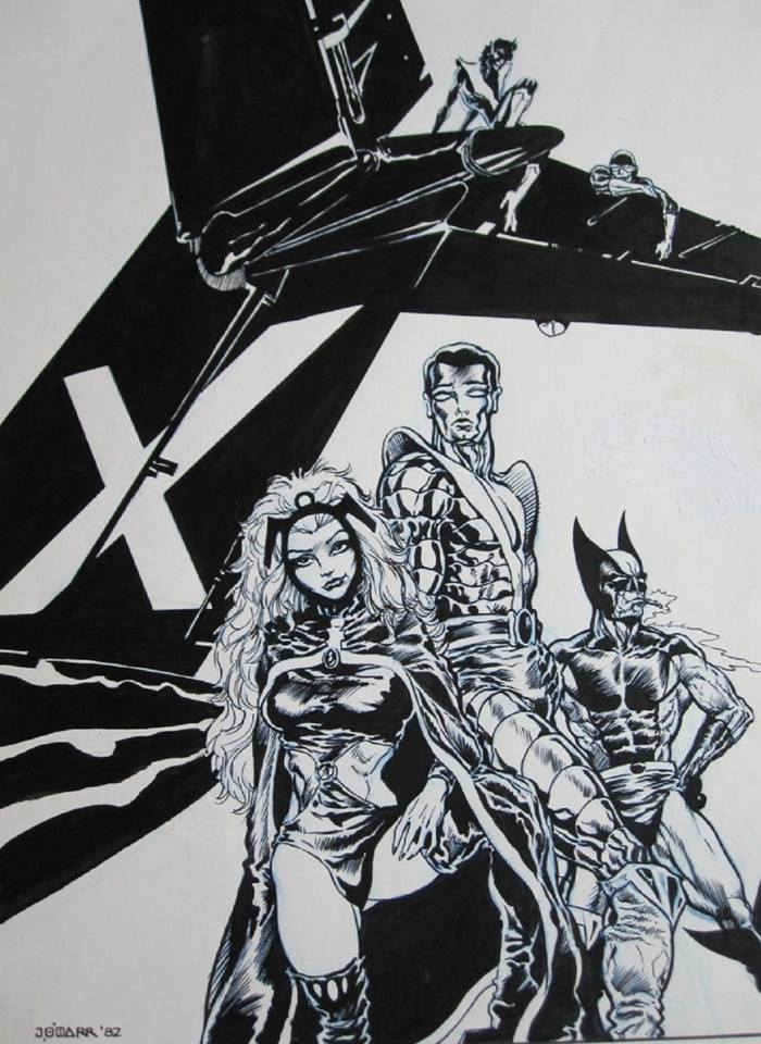 A panel from an unpublished  X-Men  story by  James O'Barr .