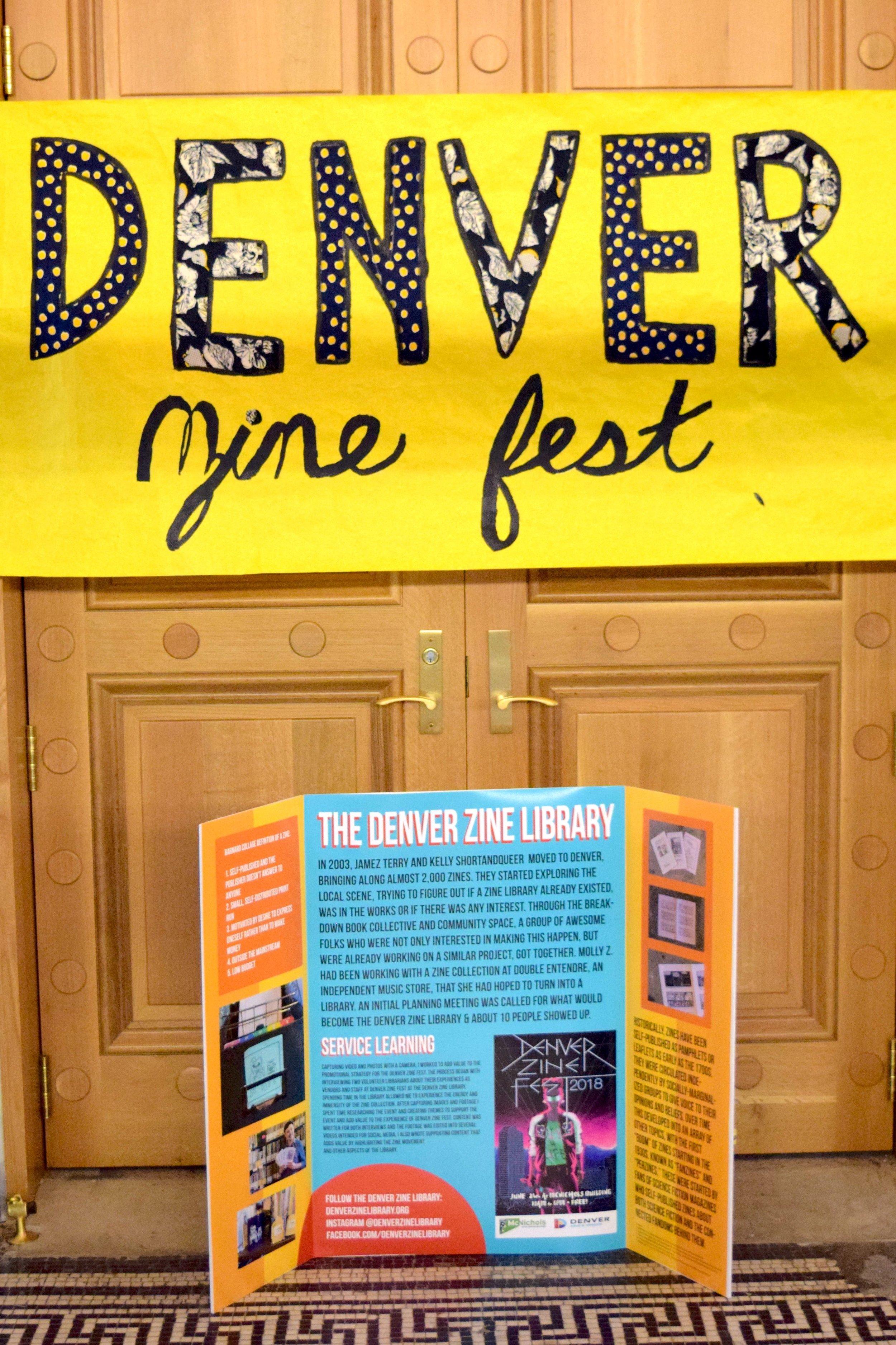 Denver Zine Fest 2018  entrance.