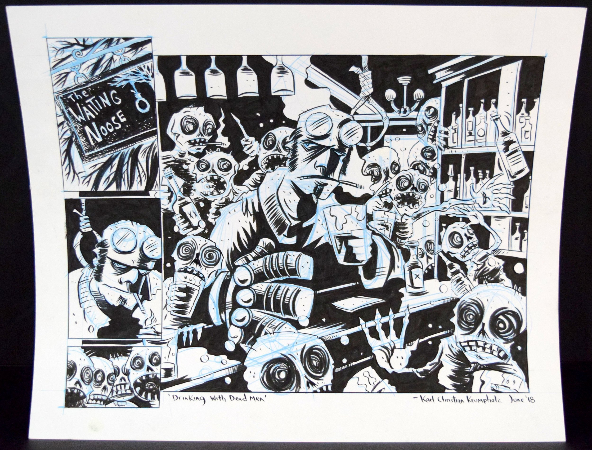 A  Hellboy  commission done by  Karl Christian Krumpholz .