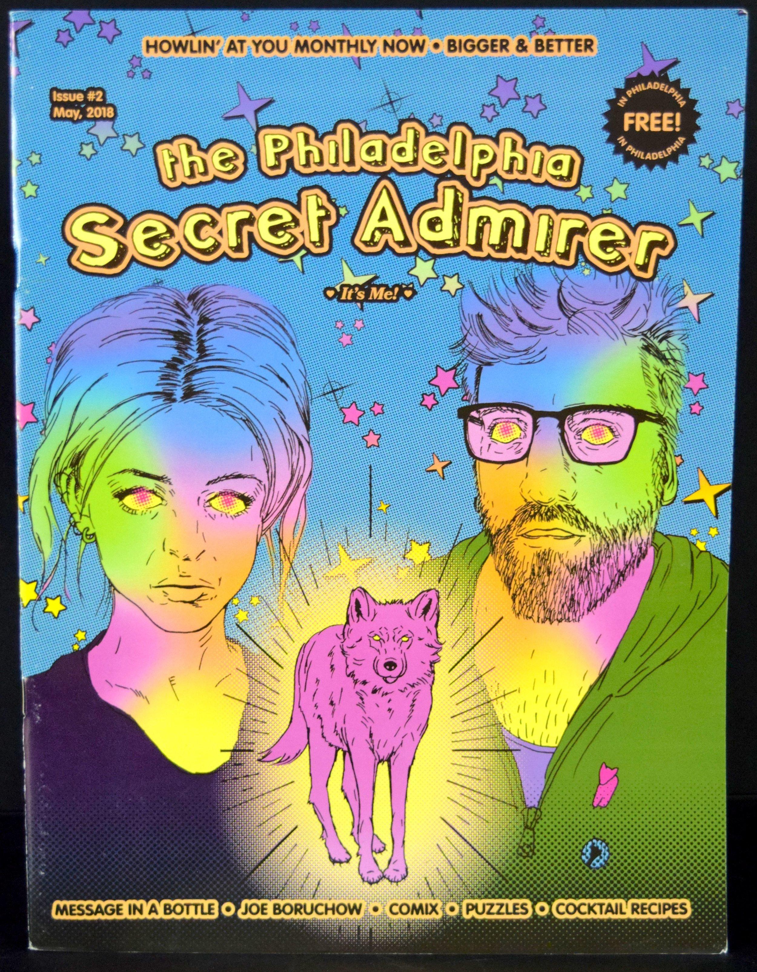 The Philadelphia Secret Admirer #2, cover by Rachel Pfeffer .