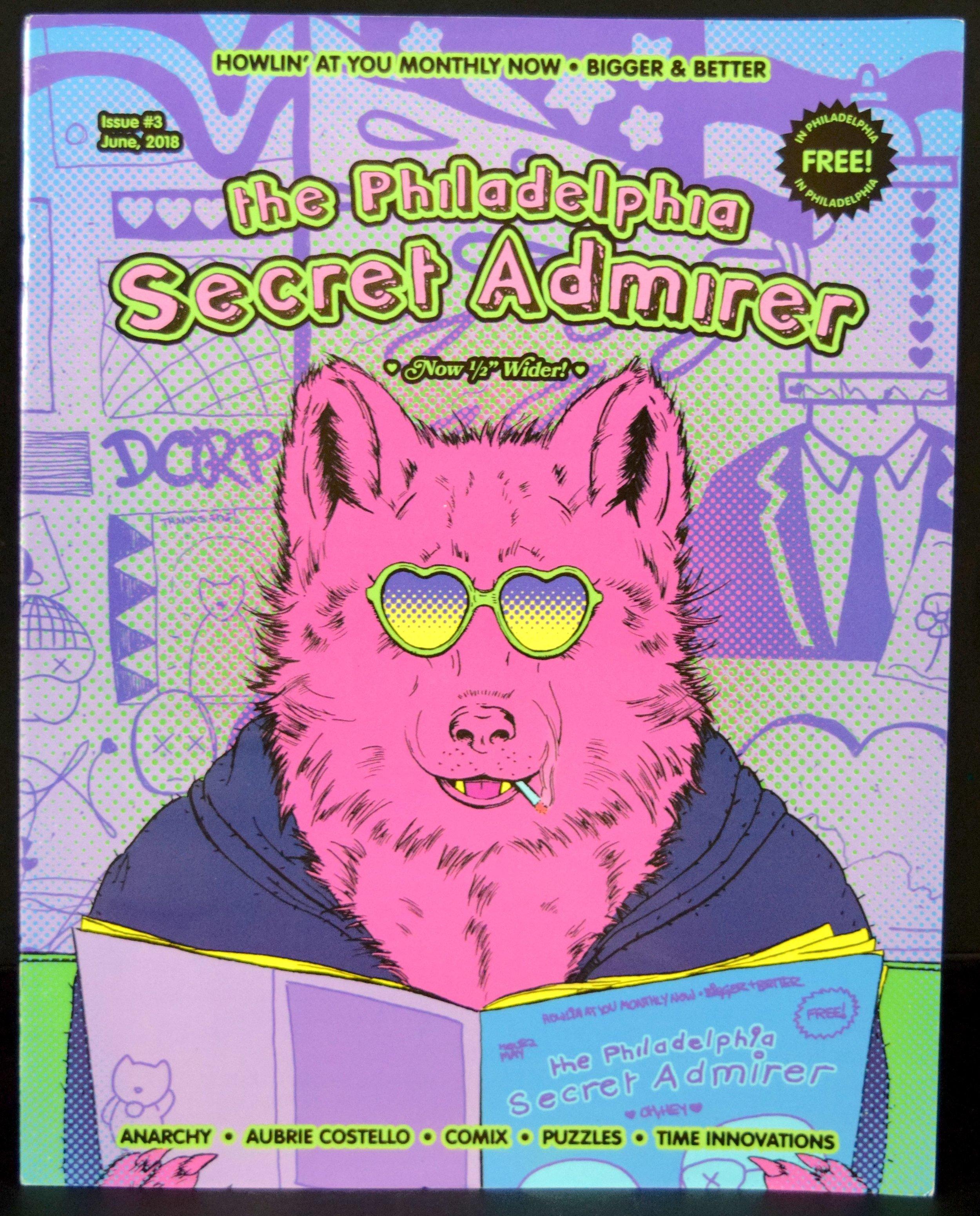 The Philadelphia Secret Admirer #3, cover by Rachel Pfeffer .