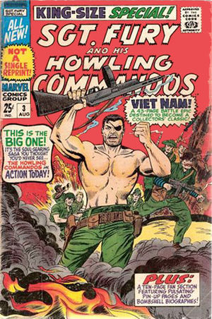 Sgt. Fury and his Howling Commandos Annual (1965) #3, cover by Dick Ayers.