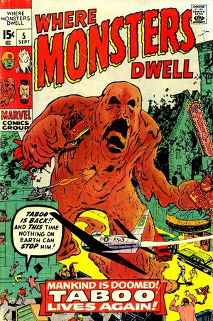 Where Monsters Dwell (1970) #5, cover penciled by Jack Kirby, inked by Dick Ayers.