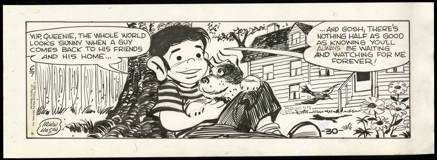A Dondi strip from 1986, by Irwin Hasen.