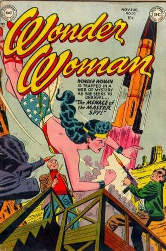 Wonder Woman (1942) #50, cover by Irwin Hasen.
