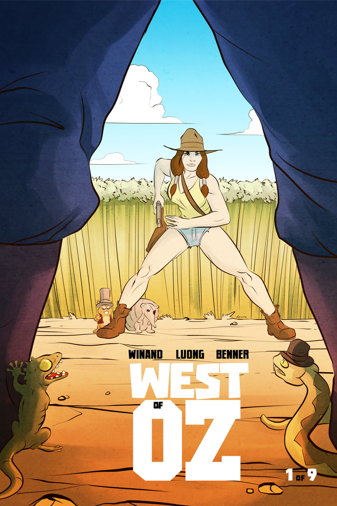West of Oz #1, cover by Nick Winand.