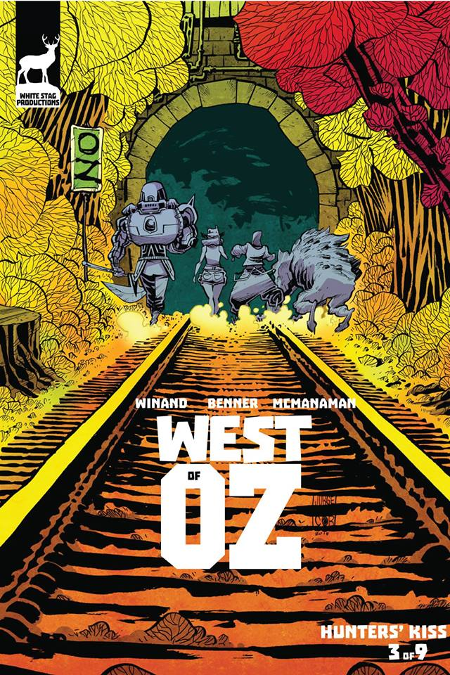 West of Oz #3, cover by Jorge Corona.
