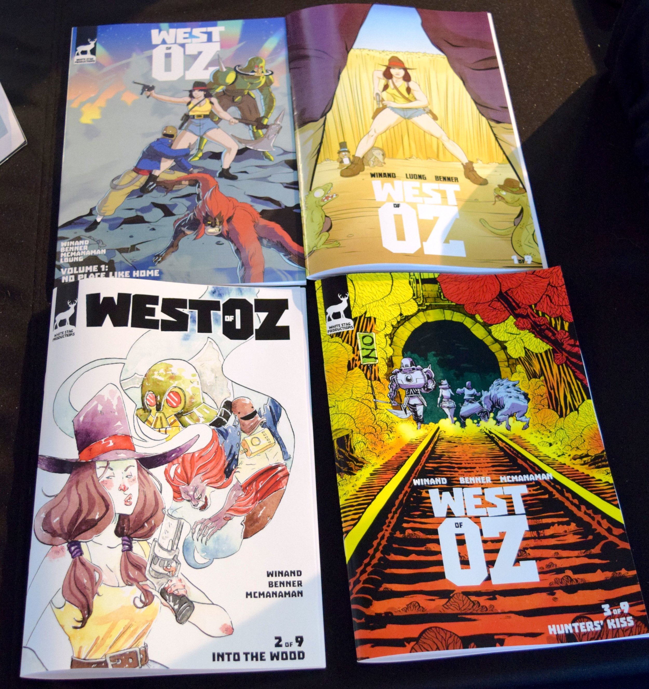 West of Oz: all three issues and the trade paperback at DINK 2018.