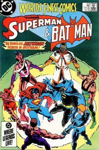 World's Finest Comics (1941) #312, cover drawn by Paris Cullins & Klaus Janson, colored by Anthony Tollin.