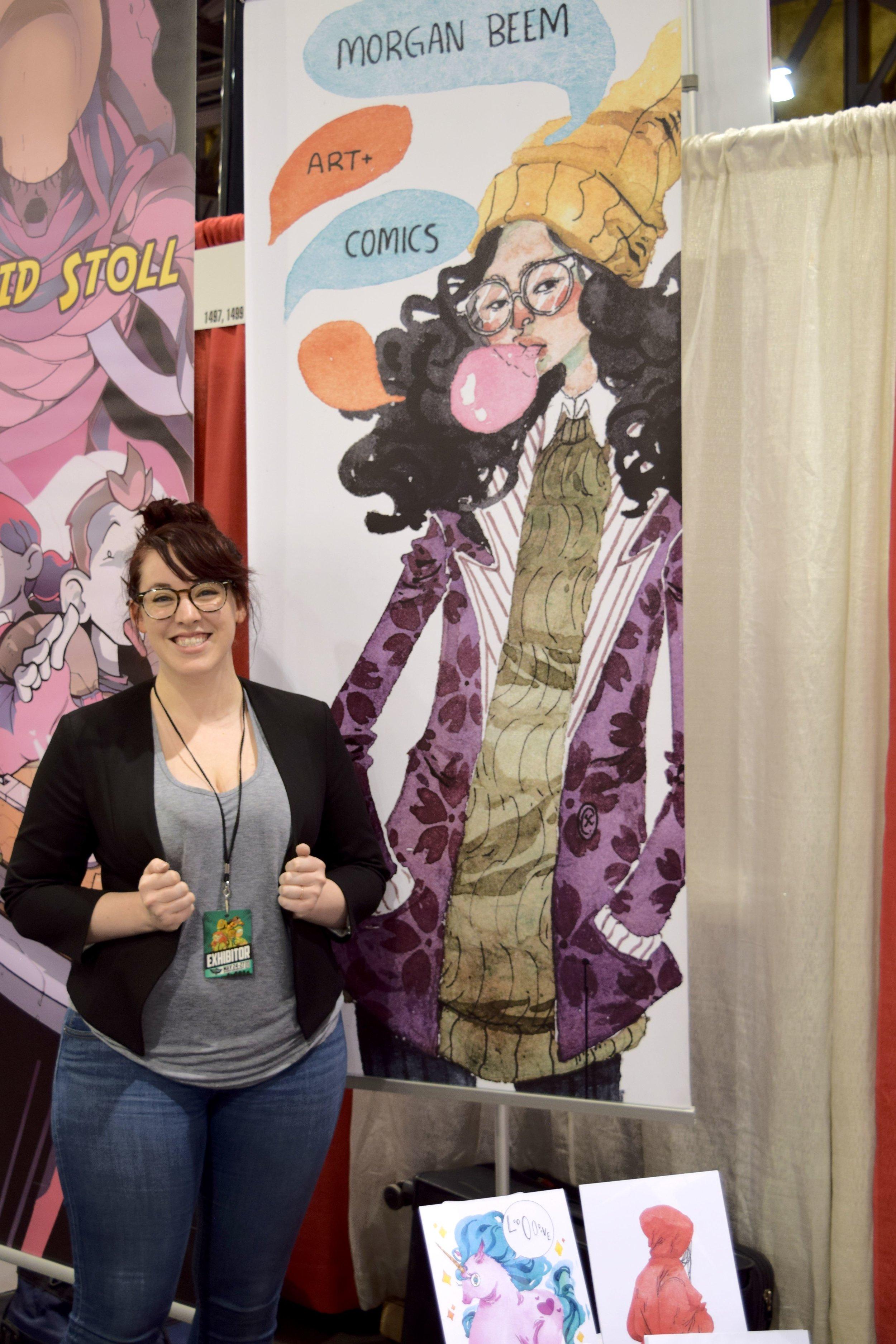Morgan Beem at Phoenix Comic Fest 2018.