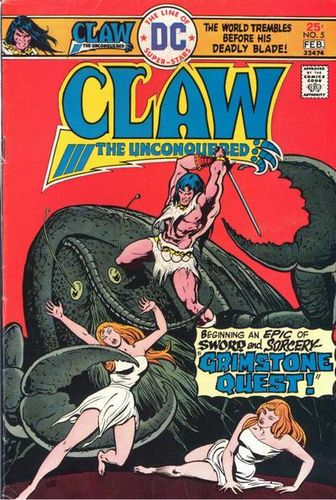 Claw the Unconquered (1975) #5, cover by Ernie Chan.