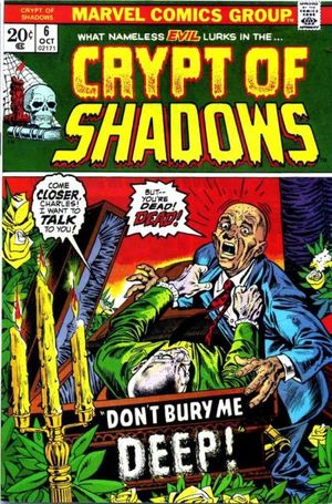 Crypt of Shadows (1973) #6, cover by Gil Kane and Ernie Chan.