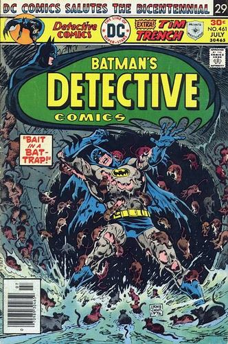 Detective Comics (1937) #461, cover by Ernie Chan.