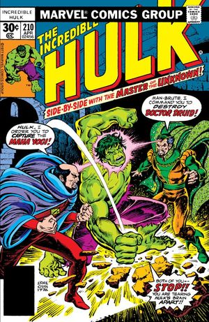 Incredible Hulk (1968) #210, cover by Ernie Chan.