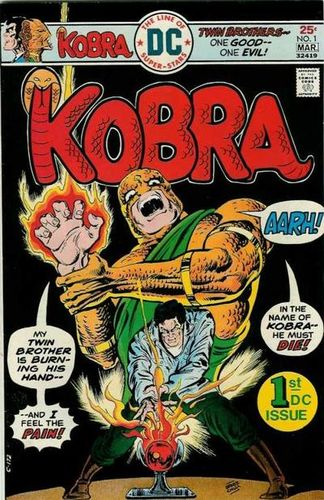 Kobra (1976) #1, cover by Ernie Chan.