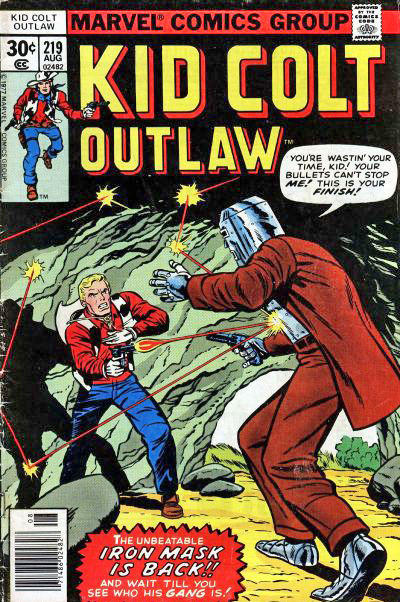 Kid Colt Outlaw (1949) #219, written by Steve Skeates & Roy Thomas.