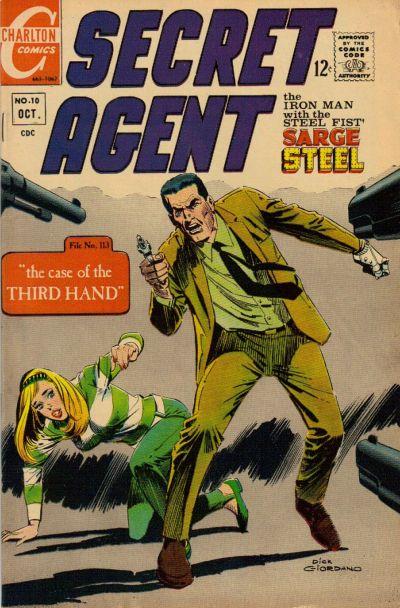 Secret Agent (1966) #10, featuring stories written by Steve Skeates.