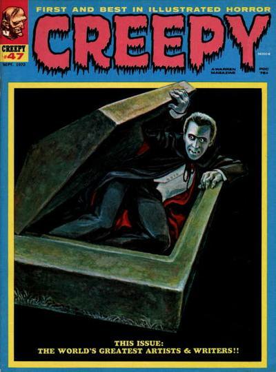 Creepy (1964) #47, featuring stories written by Steve Skeates.