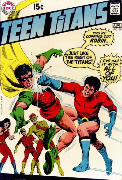Teen Titans (1966) #28, written by Steve Skeates.