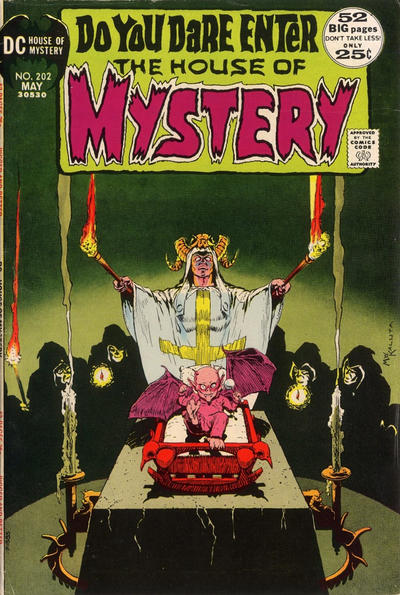 """House of Mystery (1951) #202, featuring """"The Poster Plague"""" written by Steve Skeates."""