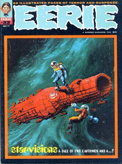 Eerie (1966) #33, featuring stories written by Steve Skeates.