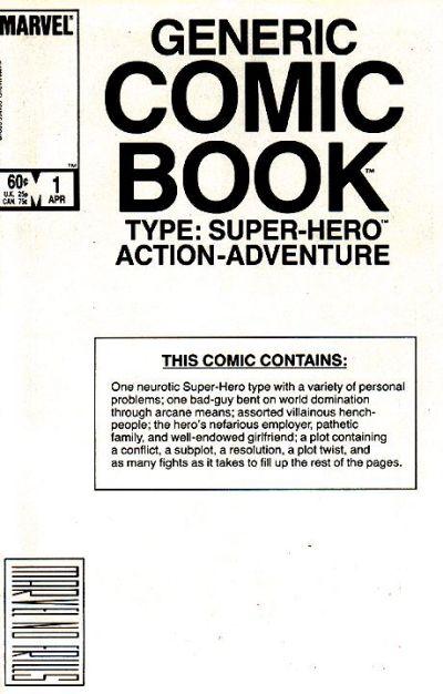The Generic Comic Book (1984) #1, written by Steve Skeates.