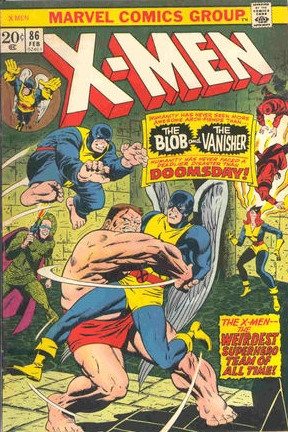 X-Men (1963) #86, cover lettered by Tom Orzechowski.