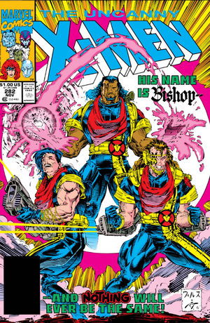 Uncanny X-Men (1981) #282, cover lettered by Tom Orzechowski.