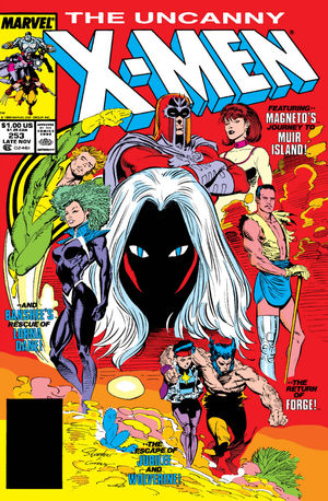 Uncanny X-Men (1981) #253, cover lettered by Tom Orzechowski.