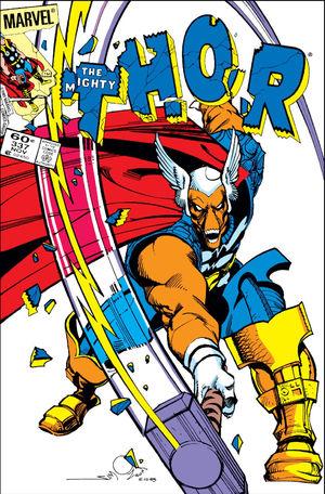 Thor (1966) #337, cover by Walt Simonson.