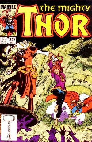 Thor (1966) #347, cover by Walt Simonson.