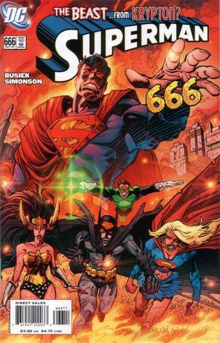 Superman (1939) #666, cover by Walt Simonson.