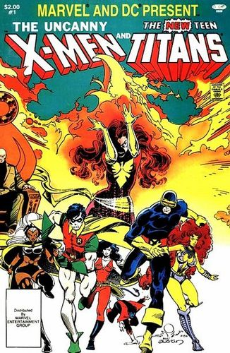 The Uncanny X-Men and The New Teen Titans (1982) #1, cover pencilled by Walt Simonson & inked by Terry Austin.