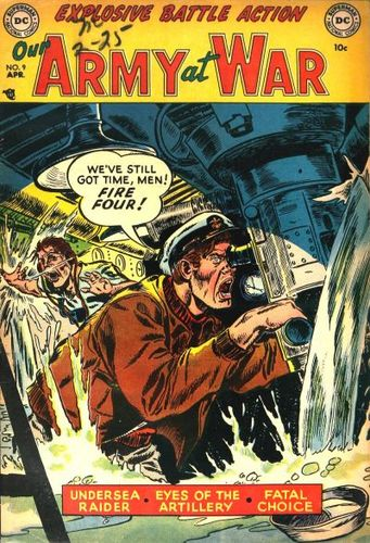 Our Army at War (1952) #9, cover by Gene Colan.