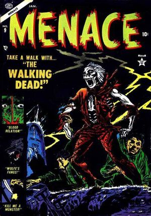 Menace (1953) #9, cover by Gene Colan.