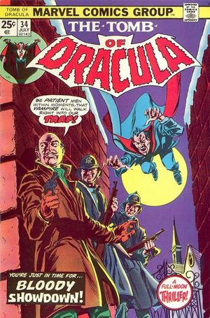 Tomb of Dracula (1972) #34, cover penciled by Gene Colan & inked by Tom Palmer